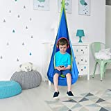 Kindsells Kids Swing Hammock Pod Chair - Child's Rope Hanging Sensory Seat Nest Indoor Outdoor Use- Without Mat