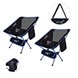 NiceC Ultralight Portable Folding Camping Backpacking Chair Compact & Heavy Duty Outdoor, Camping, BBQ, Beach, Travel, Picnic, Festival with 2 Storage Bags&Carry Bag (2 Pack of Blue)