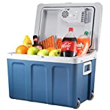Knox Electric Cooler and Warmer for Car and Home with Wheels - 48 Quart (45 Liter) - Holds 60 Cans or 6 Two Liter Bottles and 15 Cans - Dual 110V AC House and 12V DC Vehicle Plugs