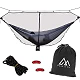 Peak & Co. Hammock Bug & Mosquito Net 12' with Water Resistant Bag & Guyline Adjusters. Fits All Single/Double Camping Hammocks. Compact. Lightweight. Fast/Easy Setup. Dual Sided Zipper