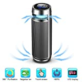 Car Ionizer Air Purifier,Car Air Cleaner with HEPA Active Carbon Filter and 8 Million Negative Ion Generator per Sec for Removing PM2.5,Formaldehyde, Benzene,Smog with Temperature and Humidity Sensor