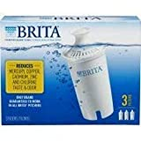 Brita Replacement Filters, 3 Count (Advanced), White