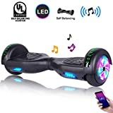 CBD 6.5' Hoverboard w/Bluetooth Speaker, Self Balancing Hoverboard for Kids with LED Lights, UL 2272 Certified(Ultimate Black)