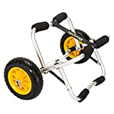 Bonnlo Kayak Cart Canoe Carrier Trolley with NO-Flat Airless Tires Wheels Transport Jon Boat Dolly Tote
