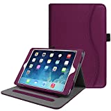 Fintie iPad Mini/Mini 2 / Mini 3 Case [Corner Protection] - [Multi-Angle Viewing] Folio Smart Stand Protective Cover with Pocket, Auto Sleep/Wake for Apple iPad Mini 1 / Mini 2 / Mini 3, Purple