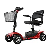 ENGWE Scout Compact Travel Power Scooter, Heavy Duty 4 Wheel 15 Mile Long Range, Extended Battery