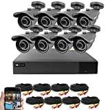 Best Vision 16CH 4-in-1 HD DVR Security Camera System (1TB HDD), 8pcs 1080P High Definition Outdoor Cameras with Night Vision - DIY Kit, App for Smartphone Remote Monitoring