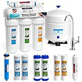 Express Water Reverse Osmosis Water Filtration System - NSF Certified 5 Stage RO Water Purifier with Faucet and Tank - Under Sink Water Filter - plus 4 Replacement Filters - 50 GPD