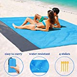 1byhome Beach Blanket 55'x79' Outdoor Picnic Blanket, Waterproof & Sand Free Quick Drying Nylon Outdoor Beach Picnic Mat with with Compact Storage Bag