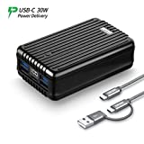 Zendure A8PD 26800mAh USB-C PD External Battery Pack, 5-Port Output 30W Power Delivery Portable Charger, LED Digital Display Power Bank for iPhone X, Nintendo Switch,Samsung Galaxy S9 and More- Black