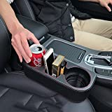 Iokone Coin Side Pocket Console Side Pocket Leather Cover Car Cup Holder Auto Front Seat Organizer Cell Mobile Phone Holder