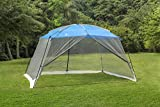 ALPHA CAMP Screen House Tent Easy Setup Canopy - 13'X9', Blue