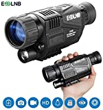 ESSLNB Night Vision Monocular 5X40 Night Vision Infrared IR Camera HD Digital Night Vision Scopes with 1.5' TFT LCD Take Photos and Video Playback Function 8GB TF Card for Hunting Security Surveilla