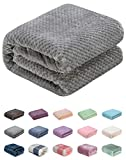 Throw Blanket of Plush Fuzzy Fleece Lightweight Soft Warm Cozy Coral Multipurpose for Couch and Sofa,Picnic,Beach,AC Room,Travel, Outdoor, Decorative (50'x70', Flint Gray)
