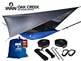 Lost Valley Camping Hammock | Bundle Includes Mosquito Net, Rain Fly, Tree Straps, Compression Sack | Weighs Only 4 Pounds, Perfect for Hammock Camping | Lightweight Nylon Portable Single Hammock