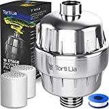 15 Stage Shower Filter with Vitamin C For Hard Water | 2 Cartridges Included |Shower Filters Removes Chlorine Fluoride and Harmful Substances | Showerhead Filter 1/2 standard US size