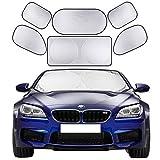 Cosyzone Windshield Sunshade 6 Pieces Car Sun Shade Side Rear Window Shades UV Rays Sun Visor Protector, Keeps Vehicle Cooler
