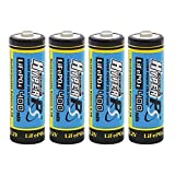 (4-Pack) HyperPS 3.2V LiFePo4 14430 (14 x 43mm) 400mAh Rechargeable Battery for Solar Panel Light, Tooth Brush, Shaver, Flashlight