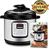 Becooker 4/6/8 Qt 5-in-1 Use Programmable Pressure Cooker, Stainless Steel Pot, Rice Cooker, Slow Cooker, Meat Stew, Sauté, Steamer, and Warmer