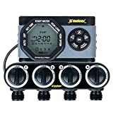 Melnor 53280 4-Outlet Digital Water Timer Simple and Flexible Programming, 4 Zone, 4 Zone