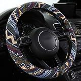 SHAKAR Bohemian Style Steering Wheel Covers-Universal Fit,15 inch (Bohemian)