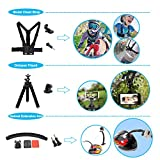 Soft Digits 50 in 1 Action Camera Accessories Kit for GoPro Hero 2018 GoPro Hero7 6 5 4 3 with Carrying Case/Chest Strap/Octopus Tripod