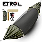 ETROL New Upgrade in 2019 3 in 1 Large Camping Hammock with Mosquito Net, Pop-Up Lightweight Portable Hanging Hammocks with Tree Straps, Swing Sleeping Hammock with Net for Outdoor, Hiking, Travel(G)