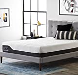 LUCID 12 Inch King Hybrid Mattress - Bamboo Charcoal and Aloe Vera Infused Memory Foam - Motion Isolating Springs - CertiPUR-US Certified