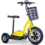 E-Wheels, EW-18 Stand n Ride Scooter 3-Wheel - Yellow
