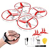 SkyDrone, New 2019 Smart Watch Quadcopter, Gesture Control Drone, Drone 2.4G, Gravity Sensor,RC Nano Quadcopter with Infrared Obstacle Avoidance, Boys Girls Gift Toys (Red)