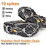 samyki Ice Cleats Crampons, Ice Grips Ice Grippers for Women/Men, Anti Slip Traction Cleats 8/19 Spikes, Durable Silicone Spike Shoes, Quickly and Easily Grips Over Footwear, IceCrampons Snow Grips