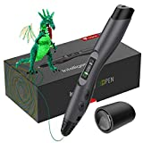 TECBOSS 3D Pen, SL300 Intelligent 3D Printing Pen with LED Display,USB Charging, 8 Speed Printing&Temperature Control, Simple Handled 3D Printer Pen for Your Kids Toys, Interesting Gifts for All Age