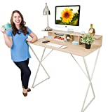 Joy Desk by Stand Steady - Modern Home Office Standing Desk Workstation with Storage Cubbies! - 47.5' x 41.5'