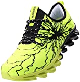 BRONAX Green Gym Shoes for Men Slip on Lightweight Running Training Casual Workout Sport Tennis Walking Sneakers Size 6.5
