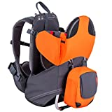 phil&teds Parade Child Carrier Frame Backpack, Orange - Compact, Lightweight (4.4lbs) - Holds a 40lb Child - Ergo Fit Harness - Waterproof - Minipack Included - 2 Year Guarantee