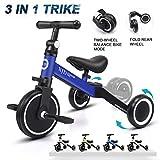XJD 3 in 1 Kids Tricycles for 1-3 Years Old Kids Trike 3 Wheel Bike Boys Girls 3 Wheels Toddler Tricycles Toddler Bike Trike Upgrade 2.0