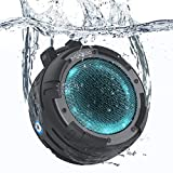 Bluetooth Speaker, MindKoo Portable Wireless Outdoor Speaker with IPX8 Waterproof, 4 LED Light Modes, Built in Mic, Super Bass and HD Sound for Shower, Bike, Beach, Pool, Home and Outdoor
