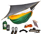 Ryno Tuff Camping Hammock with Mosquito Net And Rain Fly - Double Hammock with Bug Net and Tarp, Reinforced Not to Tear But Still Lightweight, Extra Pocket, Safe Tree Straps, and Heavy Duty Carabiners