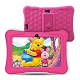 [Upgraded] Dragon Touch Y88X Pro 7 inch Kids Tablet, 2GB RAM 16GB Android 9.0 Tablets, Kidoz Pre-Installed with All-New Disney Content WiFi Only - 2019 New Model - Pink