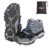 Unigear Traction Cleats Ice Snow Grips with 18 Spikes for Walking, Jogging, Climbing and Hiking
