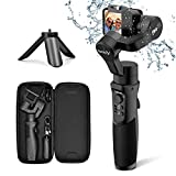 Hohem 3-Axis Gimbal Stabilizer for GoPro Hero 7/6/5/4/3, DJI Osmo Action, Yi Cam 4K, AEE, SJCAM Sports Cams Action Camera, with Sport Inception Mode, 12h Run-Time, Tripod Stand - iSteady Pro2 (NEW)