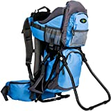 Clevr Canyonero Camping Baby Backpack Hiking Kid Toddler Child Carrier with Stand and Sun Shade Visor, True Blue | 1 Year Limited Warranty