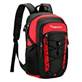 Piscifun Insulated Cooler Backpack, Leakproof Lightweight Cooler Bag, Soft Backpack Cooler for Men and Women Bag Cooler for Lunch, Picnic, Fishing, Hiking, Camping,Park, Day Trip Black & Red