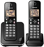 PANASONIC Expandable Cordless Phone System with Amber Backlit Display and Call Block - 2 Handsets - KX-TGC352B (Black)