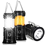Portable Outdoor LED Flame Lantern Flashlights - Flyhoom 2 Pack 3-in-1 Camping Lantern for Hurricane, Storm, Power Outage, Hiking, Tent (Batteries Not Included)