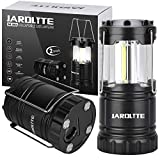 JARDLITE LED Camping Lantern with Magnetic Base Portable LED Lantern Waterproof COB Light for Outdoor,Camping,Power Outage,Hurricane and Emergency【2 Pack】
