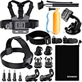 Zookki Accessories Kit for Gopro Hero 7 6 5 4 3 Session Black Silver SJ4000/SJ5000/SJ6000 Action Camera Accessories for Xiaomi Yi 4K/WiMiUS/Lightdow/DBPOWER