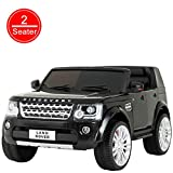 Uenjoy 2 Seater 12V Kids Ride On Car Licensed Land Rover Discovery Electric Cars for Kids with RC Remote Control, LED Lights, Storage Room, Music, Black