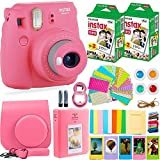 DEALS NUMBER ONE Fujifilm Instax Mini 9 Camera with Fuji Instant Film (40 Sheets) & Accessories Bundle Includes Case, Album, Selfie Lens, and More