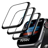 [3 Pack]Screen Protector for Apple Watch Series 6/SE/5/4 40mm, 3D Curved Edge Anti-Scratch Bubble Free HD Ultra Shatterproof Flexible Protector Film Compatible with Apple iWatch Series SE/6/5/4